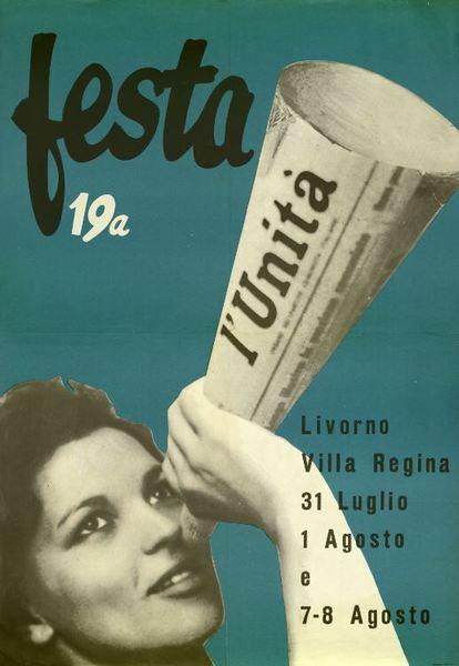 Mostra Oriano Niccolai, manifesto festa unità 1965